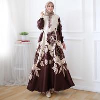 Gamis Syari Sabiza Ukuran XL - Cokelat, XL
