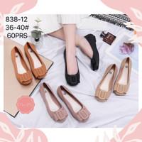 Sepatu jelly flat shoes 838