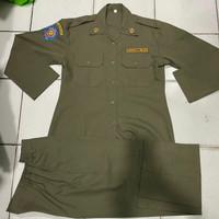 Baju PDH Pol PP Model Cewe Lengan Panjang Katun