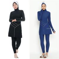 Edorasports Myra Baju Renang Wanita - Baju Renang Diving Muslimah - Navy, M