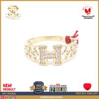 cincin emas kuning wanita perhiasan emas asli kadar 375 CMM 18 R15