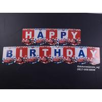 Hiasan Pesta - Banner / Gantungan - Happy Birthday- Cars
