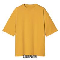 Infinide T-Shirt Kaos Polos BIG OVERSIZE YELLOW Baju Pria Wanita Kaos