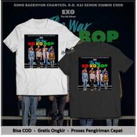 EXO T-Shirt The War Ko Ko Bop The 4th Album Cover kaos Pria & Wanita