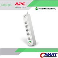 APC colokan listrik steker 5 port Surge Protector Arrester APC-PM5V-GR