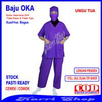 Baju OKA /Baju Perawat, Pria Wanita Lengan Pendek