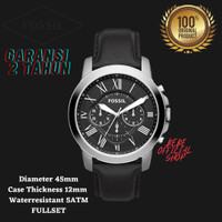 [ORIGINAL] Jam Tangan Pria Fossil FS4812 Grant Chronograph Black