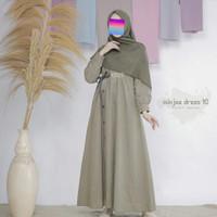 Minjee Dress By Etuzi Gamis Saja - Dusky green, M