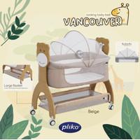 Pliko Vancouver Rocking Baby Bed / Box Tidur Anak Bayi - Beige