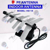 Anten Antena Antenna TV Digital Dalam Ruangan Indoor PF HD-14 HD14