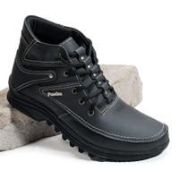 Sepatu Boot Pria/ Sepatu Boot Casual Kulit ASLI Model Kickers BKS01TP - Hitam, 39