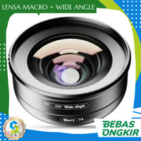 Apexel Lensa Kamera Smartphone Universal Clip Wide Angle + Macro Lens
