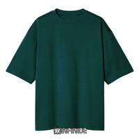 Infinide T-Shirt Kaos Polos BIG OVERSIZE HIJAU Cotton Combed 24s