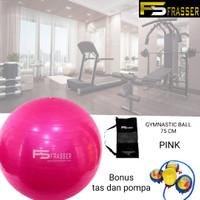 Gym Ball Fitnes Ball Bola Gym Bola Yoga Pilates 75 Cm Bonus Pompa