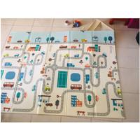 Karpet / Matras / PlayMat Lipat Tebal 1 cm XPE untuk Bayi Merangkak Ja