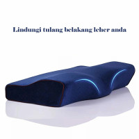 Bantal Tidur Memory Foam Anti Ngorok Bantal Kepala Therapy Kesehatan - Biru