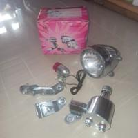 Lampu dinamo sepeda onthel ontel tua lampu set klasik jadul