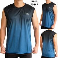 baju kaos singlet gym pria pakaian olahraga tanpa lengan