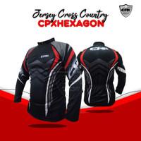 Baju Kaos Jersey Sepeda Olahraga Gowes Pria Lengan Panjang Roadbike XC