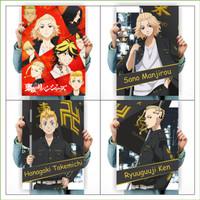 Poster Anime Terlengkap A3 - Tokyo Revengers Mikey Draken Takemichi