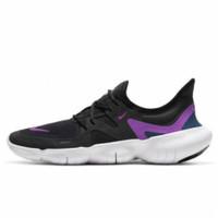 Sepatu Sneakers Nike Free RN 5.0 Black Vivid Purple Women
