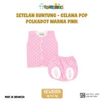 3 Setelan Baju Bayi Buntung-celana pop Shankusen Polkadot Warna Cewe