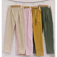 celana panjang basic baggy pants cewek wanita remaja bahan katun kerja