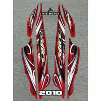 Stiker Motor Mio Sporty 2010 Merah - Striping Mio Sporty