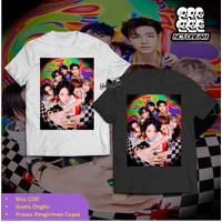 NCT Dream Art Photo Cover T-Shirt Baju K-Pop Kaos Boy Band Oversize - S