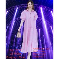 Long Dress Korea Kekinian Maxi Dress Wanita Casual Baju Hamil Menyusui