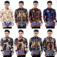 Atasan Baju Batik Pria Kemeja Semi Sutra Original HQ + Furing Istimewa