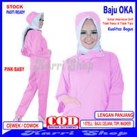 Baju OKA, Baju OKA / Baju Perawat, Pria Wanita Lengan Panjang - Pink Baby, S