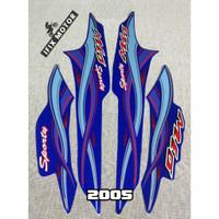 Stiker Motor Mio Sporty 2005 - Striping Motor Mio 2005 Biru