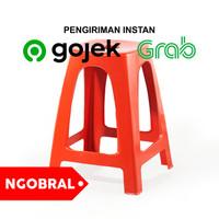 GOJEK / GRAB Kursi Bakso Plastik / Bangku Plastik / Kursi Depot TINGGI