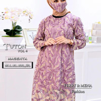 Kebaya Tunik Tile Two Tone Nagita 2 Brukat Modern Jumbo Baju Kondangan