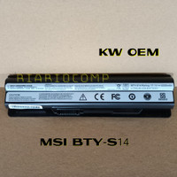 BATERAI MSI CR650 CX650 FR400 FX400 FX420 GE60 BTY-S14 KW OEM 6CELL