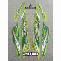 Stiker Motor Mio Sporty 2010 Hijau - Striping Mio Sporty