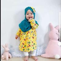 -Gamis Bayi Anak Cewek 3 bulan - 2 tahun   Baju Muslim Baby