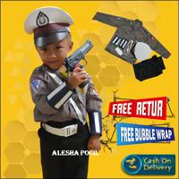 Anak Laki-laki Polisi Tentara Cosplay Pakaian Set/ Baju Polisi Anak