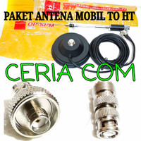 PAKET ANTENA MOBIL CR77 BRACKET TO HT BAOFENG WEIRWEI ALL HT CHINA