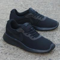 sepatu nike full black original