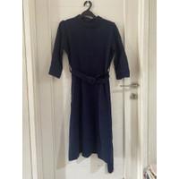 dress berrybenka (warna biru dongker) lengkap dengan belt