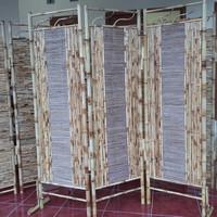 Partisi   Sketsel   Penyekat   Pembatas Ruangan Bambu Custom 8 Lembar
