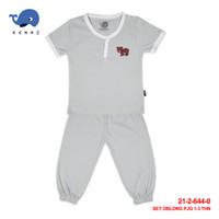 Baby Kenaz Sunday Set Bear Stelan Kancing Celana Panjang 1-3 Tahun