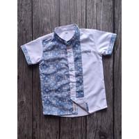 Indigo Shirt (Kemeja Anak Batik Kombinasi Putih & Biru Indigo)