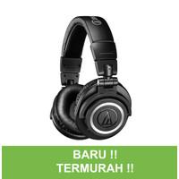Audio Technica ATH M50xBT Bluetooth Headphone Monitoring M50x - Hitam