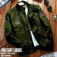 jaket pria Matt baby canvas /Jaket Military (army)