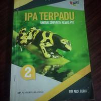 buku IPA terpadu SMP/ Mts kelas 2-8 penerbit Erlangga