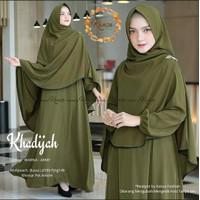 Baju gamis wanita syari setelan hijab gamis khadijah terbaru modern