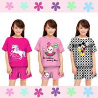 baju setelan anak perempuan model celana umur 6- 12 tahun/ baju model